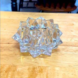 Avon cut glass candle holder
